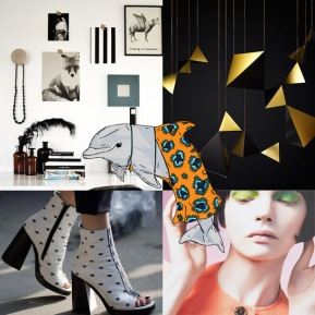 Weekly Moodboard: Shapes, Colors, and a Dolphin?