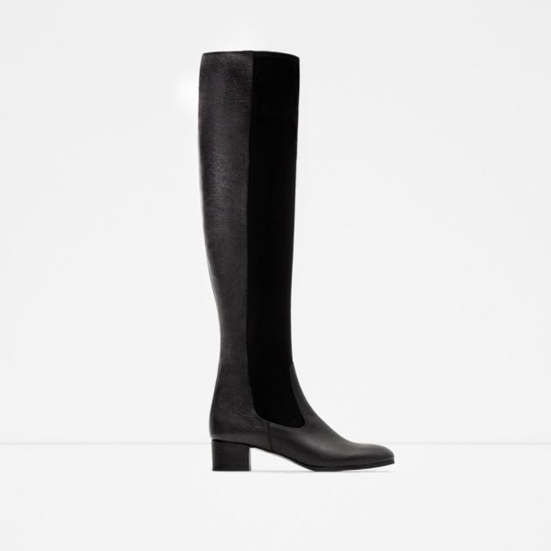 ZARA-COMBINED LEATHER BOOT
